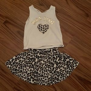 The Children's Place Top & Skirt with shorts under